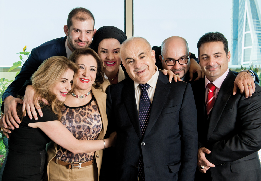 Ghazi Abu Nahl and Hind Ali Tajaba, with their five children Reem, Hamad, Amal, Fadi, and Kamel