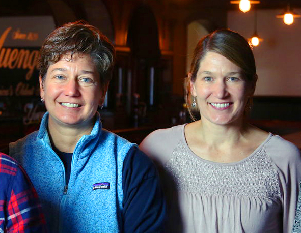 Jennifer Yuengling-Franquet (L) and Wendy Yuengling Baker