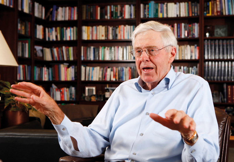 Charles Koch, of Koch Industries. The conglomerate has remained in family control since it launched in 1940