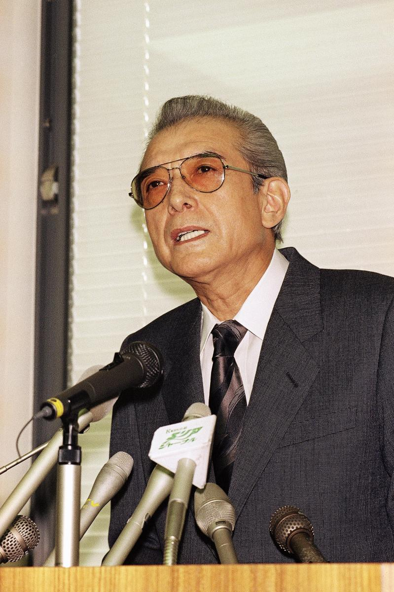 Former Nintendo president Hiroshi Yamauchi. Yamauchi, known for his role in enhancing the company's global presence as a game console maker.