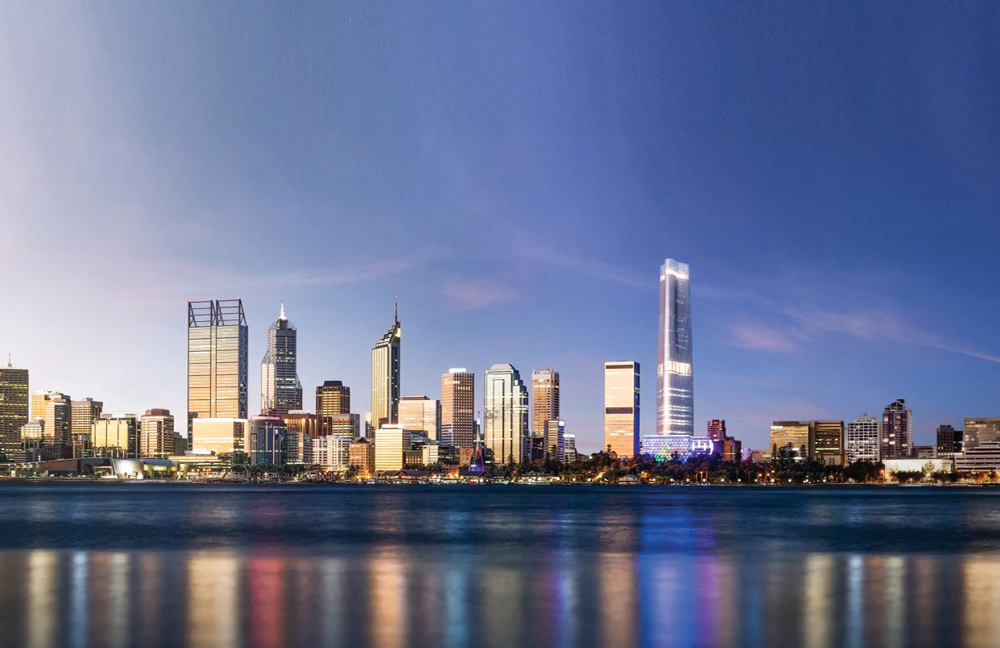 The Abu Nahls are now looking to build a 75-storey tower and complex which will transform the Perth skyline - Ph © Nest Investment