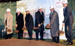 Harvard has named a new building after Ratan Tata (fourth from left) - Photo credit Neal Hamberg