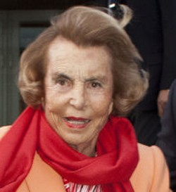 L'Oreal heiress Liliane Bettencourt